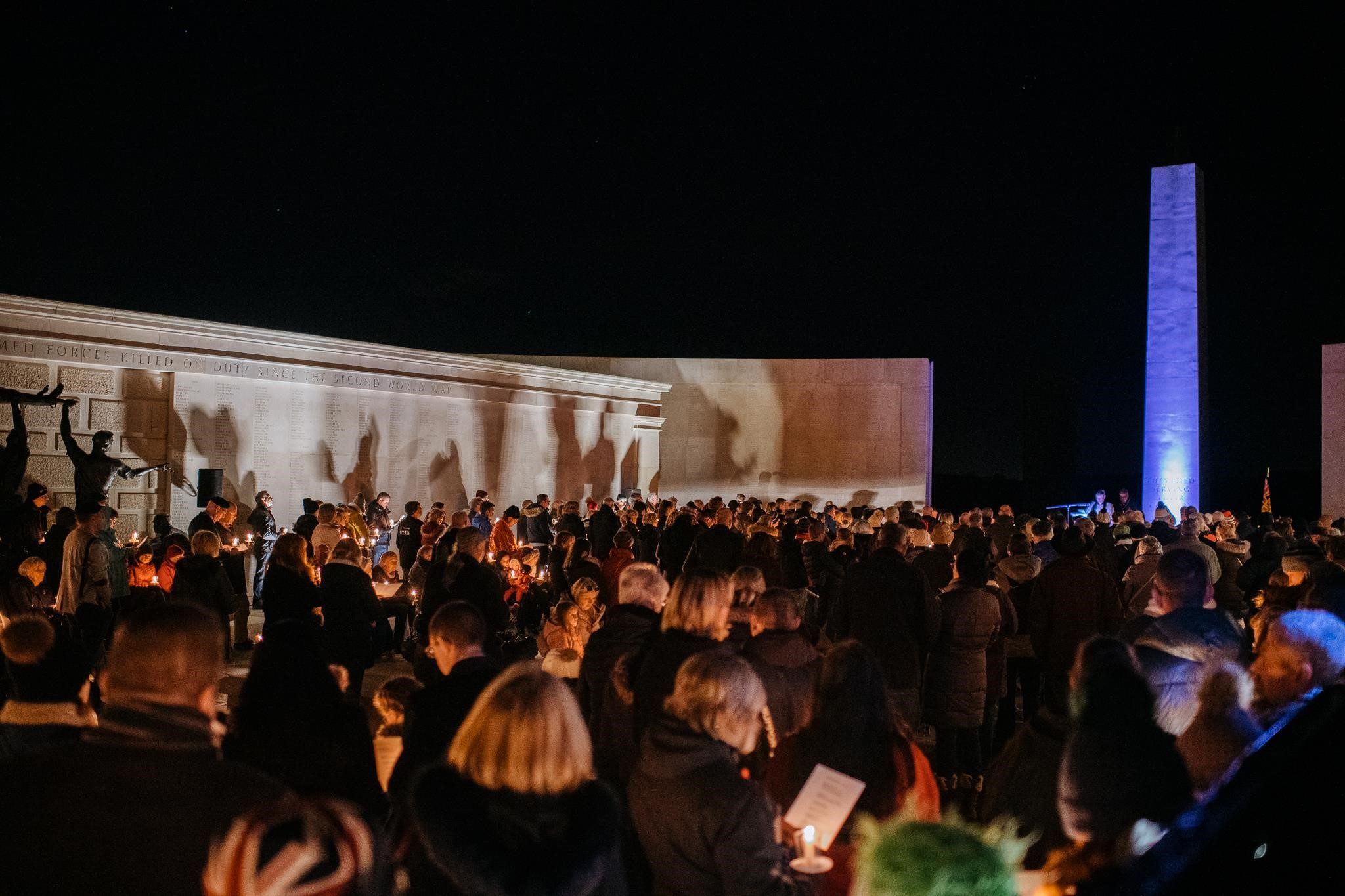 Candlelit vigil at the NMA